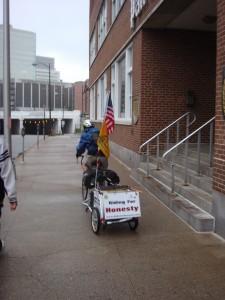 Michael Maresco heading into Harrisburg, PA