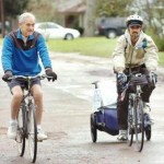 Ron Paul Rides close to 10 miles with a grassroot